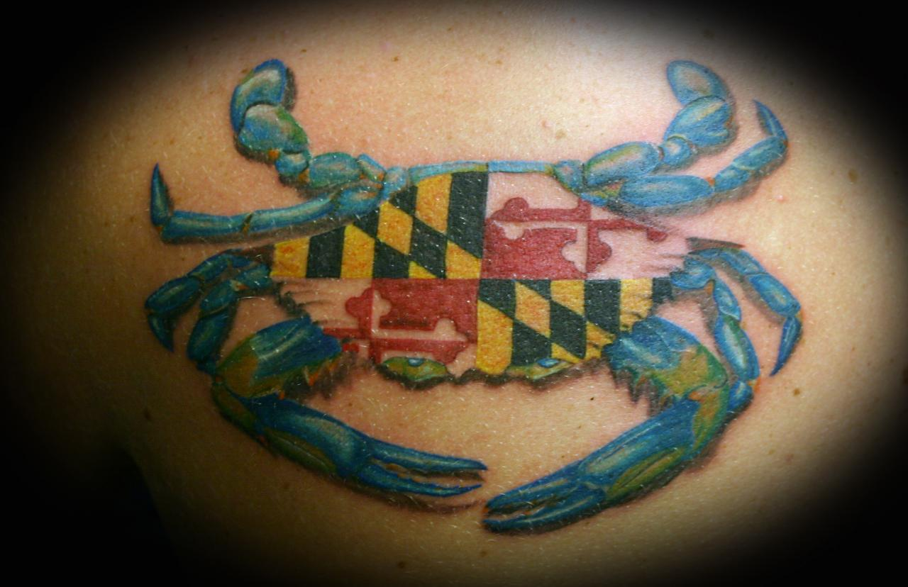 Surrealoasis tattoos page 1 page 2 for Maryland crab tattoo